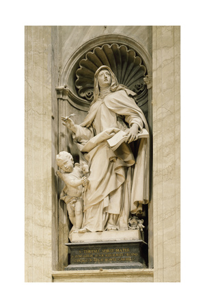 Marble Statue in Central Nave of St. Peter's Basilica, Rome, Vatican City, 16th-17th Century Giclee Print