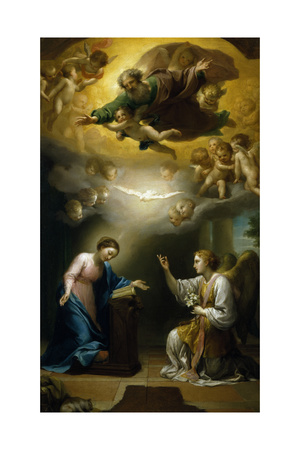 Annunciation Giclee Print by Anton Raphael Mengs