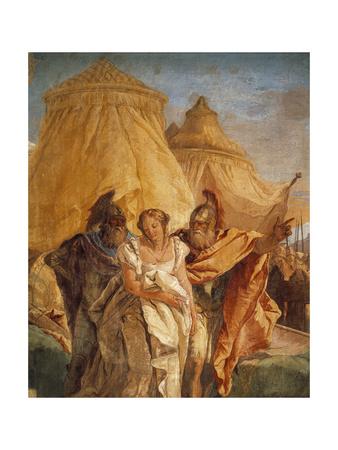 Eurybates and Talthybius Lead Briseis to Agamemnone Giclee Print by Giambattista Tiepolo!