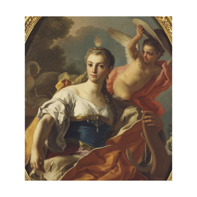 Allegory of Generosity Giclee Print by Francesco de Mura