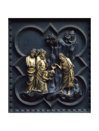 St John Baptizing Christ, Panel Giclee Print by Andrea Pisano