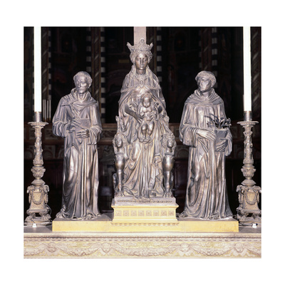 Italy, Padua, Basilica of Saint Anthony of Padua, Group of Virgin and Child with Saints Giclee Print by  Donatello