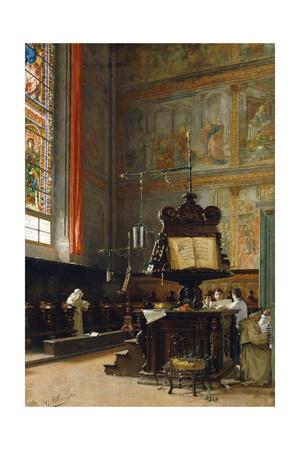 In the Choir Giclee Print by Giovanni Battista Torriglia