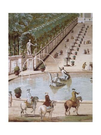 Garden of Villa Giclee Print by Giuseppe Zais