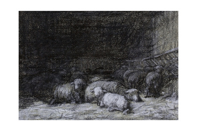Farmyard Scene Giclee Print by Charles Emile Jacque