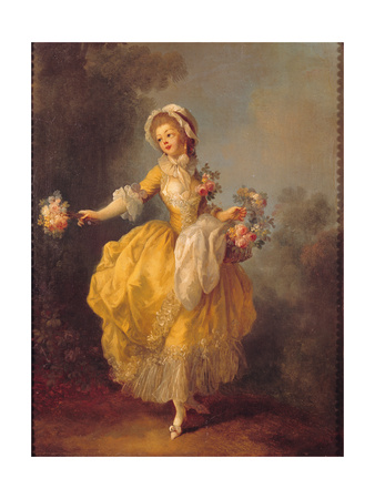 Dancer with a Bouquet Giclee Print by Jean-frederic Schall
