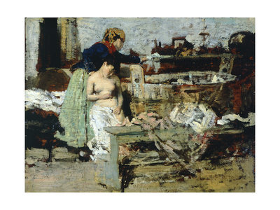 After the Bath, Sketch Giclee Print by Giacomo Favretto