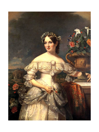 Serena Mayer Franklin, 1838 Giclee Print by Jacob Eichholtz