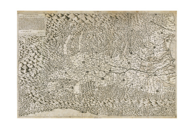 The New Description of Lombardy, 1570 Giclee Print by Giacomo Gastaldi