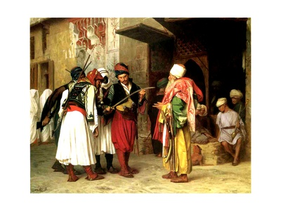 Old Clothes Merchant, Cairo, 1866 Giclee Print by Jean Leon Gerome