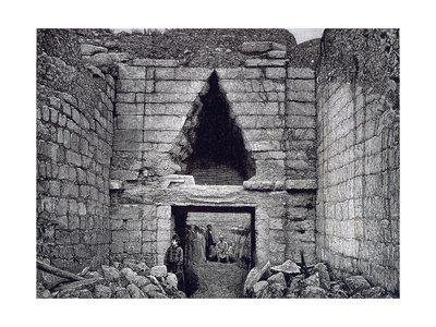 Mycenae, Treasure at the Lion Gate Giclee Print by Heinrich Schliemann
