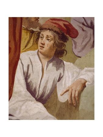 Lycaon, Antenor's Son, Consecrating Apollo's Dagger in Delphi, Episode of Myth of Antenor, 1650 Giclee Print by Luca Ferrari