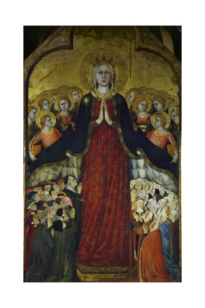 Madonna of Recommended, Ca 1320 Giclee Print by Lippo Memmi