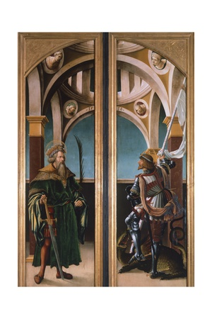St. Sigismund and St. George, Detail from Doors of a Triptych of the Crucifixion, 1519 Giclee Print by Hans Burgkmair