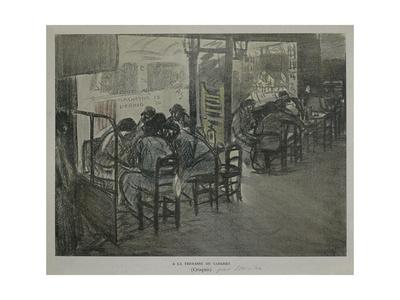 Paris on Terrace of Café Giclee Print by Théophile Alexandre Steinlen