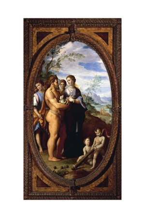 Hercules and Iole known as Discovery of Purple, 1570-1571 Giclee Print by Santi Di Tito
