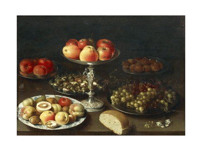 Still Life with Fruit and Bread Giclee Print by Osias Beert