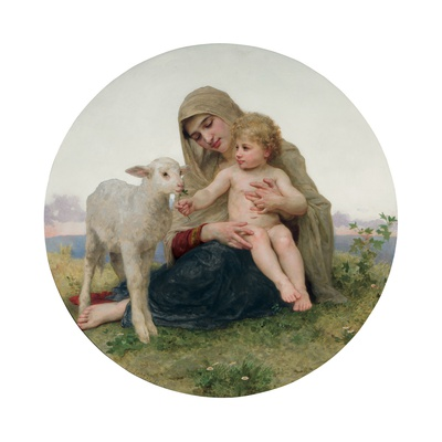 La Vierge a L'Agneau, 1903 Giclee Print by William Adolphe Bouguereau