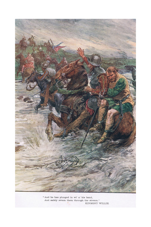 And Safely Swam Them Through the Stream Giclee Print by William Rainey