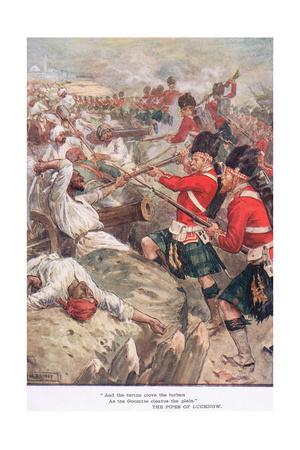 """And the Tartan Clove the Turban"" Giclee Print by William Rainey"