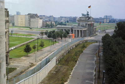 Overhead View of the Berlin Wall Photographic Print