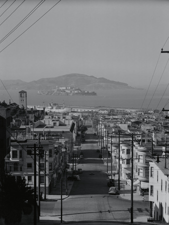 View of Alcatraz Island from Russian Hill Photographic Print by Philip Gendreau