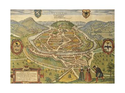 Map of Besancon from Civitates Orbis Terrarum Giclee Print