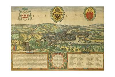 Map of Liege from Civitates Orbis Terrarum Giclee Print