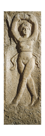 Roman Civilization, Relief Portraying Female Dancer, from Pest, Hungary Giclee Print
