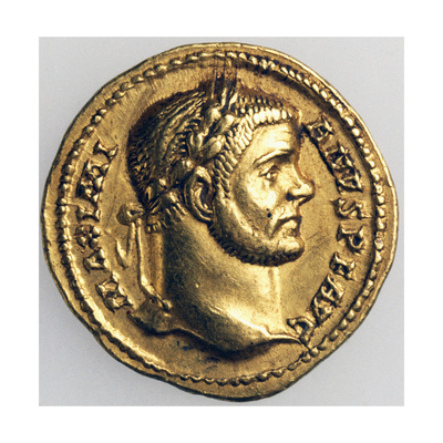 Maximian Aureus Bearing Head of Hercules, Recto. Roman Coins, 3rd-4th Century AD Giclee Print
