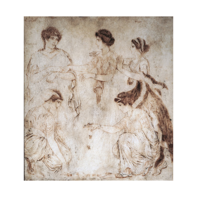 Italy, Campania, Ercolano, Astragalus Players Giclee Print