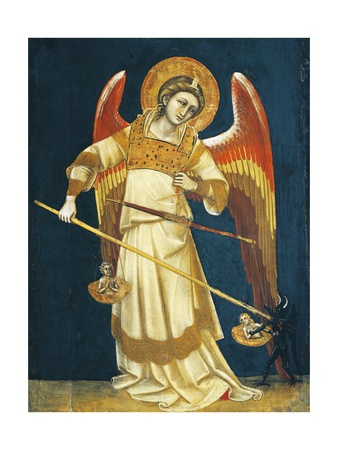 Archangel Michael Weighing Souls, Circa 1354 Giclee Print