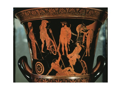 Red-Figure Pottery, Attic Krater Depicting Heracles and Argonauts from Orvieto, Umbria Region Giclee Print!