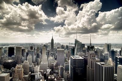 View of Manhattan, New York Lámina fotográfica