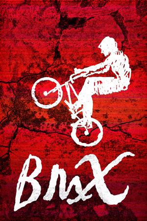 BMX Biking Sketch Sports Print