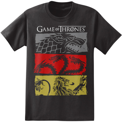 Game of Thrones - 3 House Symbols T-shirts