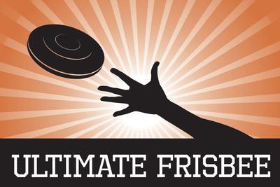 Ultimate Frisbee Orange Sports Poster Print Prints