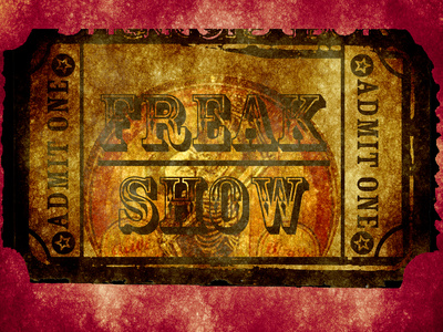 Freak Show Ticket 2 Prints