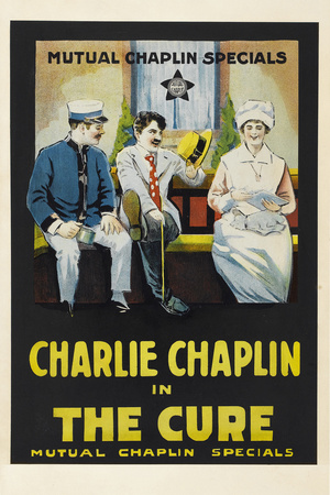The Cure Movie Charlie Chaplin Edna Purviance Poster Print Posters