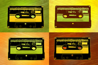 Audio Cassette Tapes Pop Art Print Poster Poster