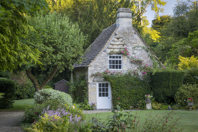 Early Morning Cottage in Castle Combe, Wiltshire, England Photographic Print by Brian Jannsen