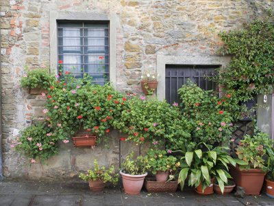 Europe, Italy, Tuscany. the Town of Volpaia Photographic Print by Julie Eggers