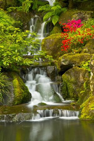 Heavenly Falls, Portland Japanese Garden, Oregon, Usa Photographic Print by Michel Hersen