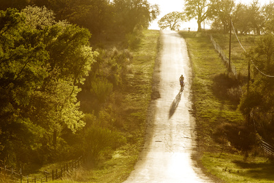 Road Cycling in Texas Hill Country Near Fredericksburg, Texas, Usa Photographic Print by Chuck Haney