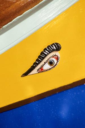 Marsaxlokk, Malta. Luzzu, Small Boat, with Eye of Osiris Photographic Print by Charles Cecil