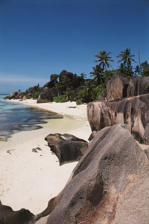 Seychelles, La Digue Island, Union Bay, Point Source D'Argent Photographic Print by Nik Wheeler