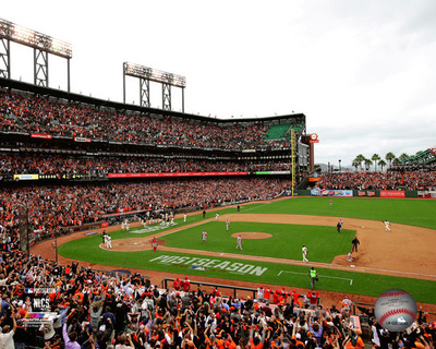 The San Franciso Giants celebrate winning Game 3 of the 2014 National League Championship Series Photo