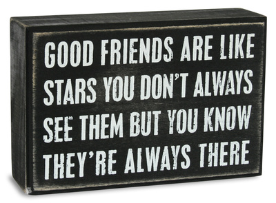 Good Friends Are Like Stars Box Sign Wood Sign