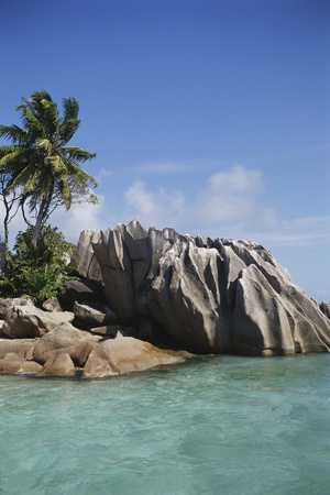 Seychelles, View of Praslin Island Photographic Print by Nik Wheeler