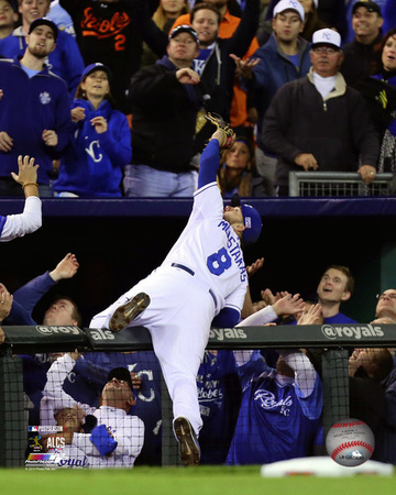 Mike Moustakas Game 3 of the 2014 American League Championship Series Action Photo